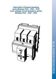 Interruttori di bassa tensione serie Otomax P1C - P2C - P3C Low ...