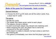 Rules of the game for Chemundo - basic version ®
