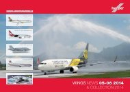 WINGS NEWS 05-06 2014 & CollECtioN 2014 - Modellbahnshop ...