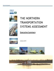 The Northern Transportation Systems Assessment - NWT & Nunavut ...