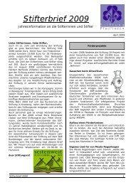 Stifterbrief 2009 - Stiftung Pfadfinden