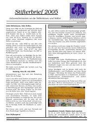 Stifterbrief 2005 - Stiftung Pfadfinden
