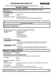 SICHERHEITSDATENBLATT INCIDIN LIQUID - Ecolab (Schweiz)