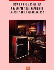 MPA Brochure - JBL Professional