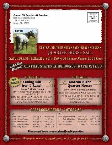 Lauing Mill Iron L Ranch Moreau River Quarter Horses