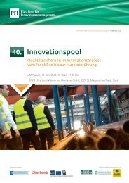 Innovationspool - PFI Plattform für Innovationsmanagement