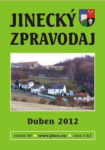 JZ duben 2012 - Jince