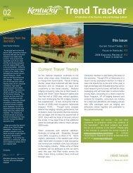 Trend Tracker - Kentucky Tourism