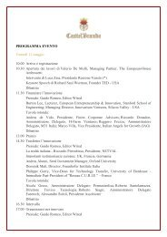 Nei due giorni del Forum - CastelBrando