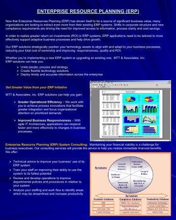 Enterprise Resource Planning - MTT Associates