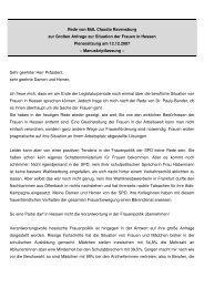 Rede im Hessischen Landtag zur Situation der Frauen in Hessen
