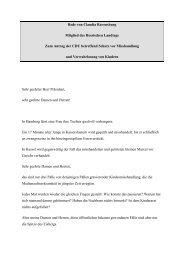 Rede im Hessischen Landtag zum Schutz der Kinder vor Missbrauch