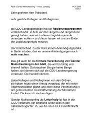 Rede im Hessischen Landtag zum Gender Mainstreaming