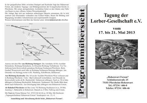 Hier können Sie das Programm 2013 downloaden. - der Lorber ...