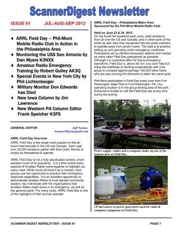 Scanner Digest Newsletter - Issue 61