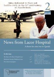 News from Lacor Hospital - Fondazione Corti