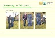 Anleitung s-o Zelt - Aufbau - Sunneland Oberland