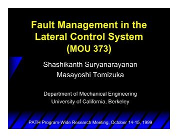 PDF file 576 k - PATH - University of California, Berkeley