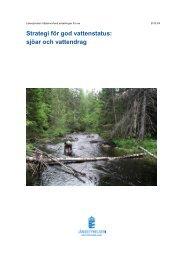 Strategi för god vattenstatus - Havs- och vattenmyndigheten