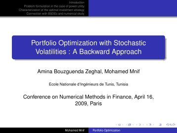 Portfolio optimization trading strategies
