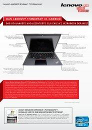 Das lenovo® thinkPaD® X1 carbon  ultrabook