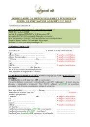 FORMULAIRE DE RENOUVELLEMENT D'ADHESION ... - Anacofi