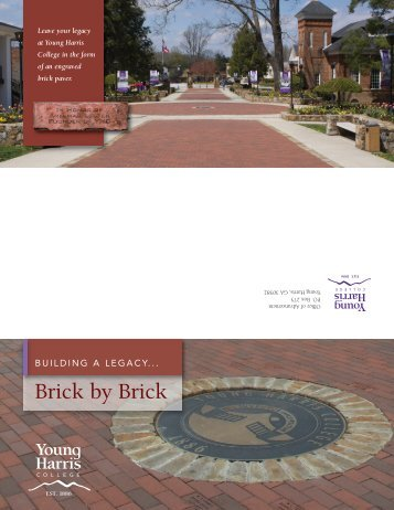 Brick by Brick - Young Harris College