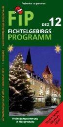 Fichtelgebirgs-Programm - Dezember 2014