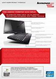 Das Lenovo® ThinkPaD® X230 TabLeT