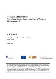 Women in Azerbaijan - Ludwig Boltzmann Institut für Menschenrechte