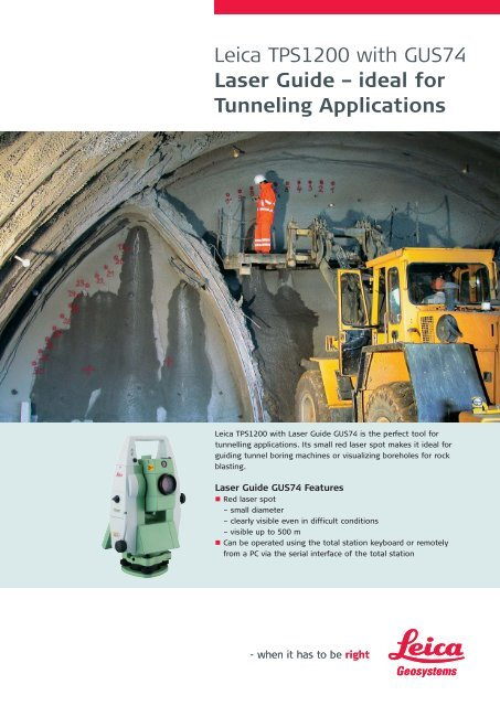 TPS1200 with GUS74 - Leica Geosystems