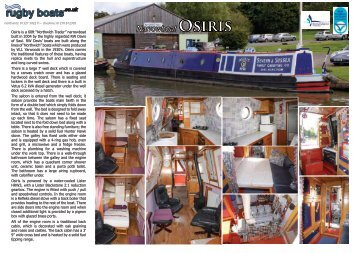 Narrowboat OSiRiS - Rugby Boat Sales