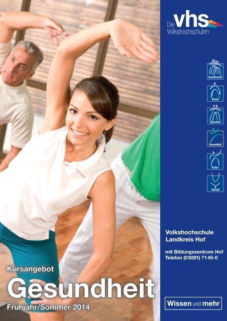 Programmheft Gesundheit - Volkshochschule im Landkreis Hof