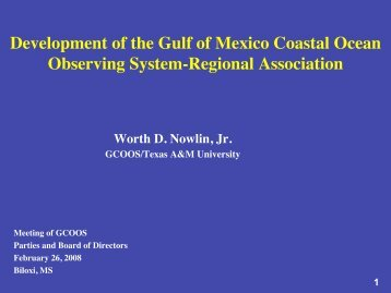 Provide - Gulf of Mexico Coastal Ocean Observing System - Texas ...
