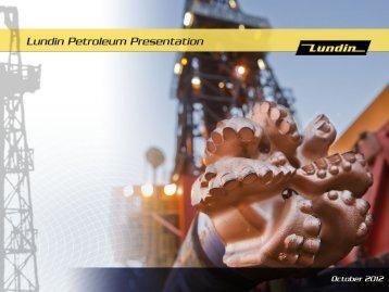 Corporate presentation - Lundin Petroleum