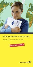 Internationaler Briefversand.
