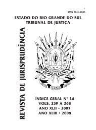 Indice Geral 26.p65 - Tribunal de Justiça do Estado do Rio Grande ...