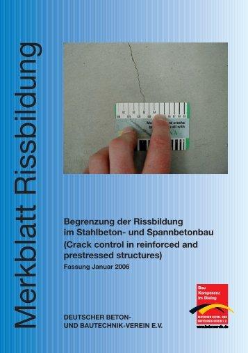 PDF-Merkblatt Begrenzung der Rissbildung im Stahlbeton