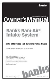 Manual - Bankspower - Banks Power