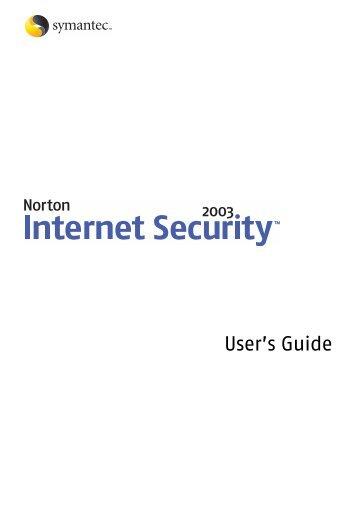 Norton Internet Security™ 2003 User's Guide