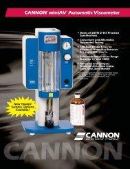 miniAV - Cannon Instrument Company