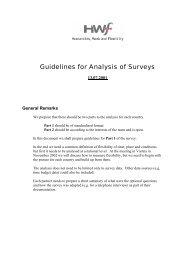 Guidelines for Analysis of Surveys - HWF