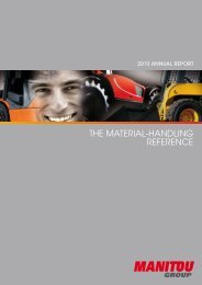 THE MATERIAL-HANDLING REFERENCE - Manitou Groupe