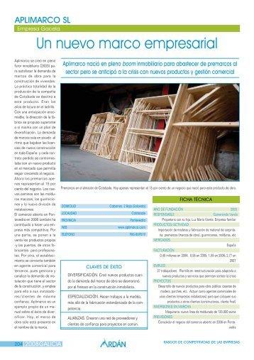 Reportaje: APLIMARCO, S.L.: Empresa Gacela - Ardan