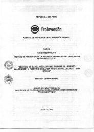 Bases - Proinversión
