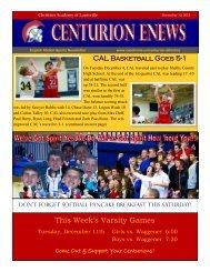 eNews 12/10/2012 - Christian Academy School System