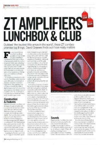 Guitar Buyer Review - ZT Amplifiers