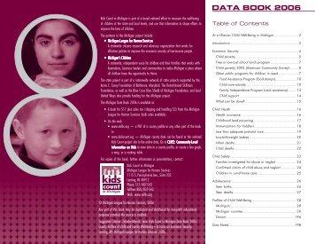 DATA BOOK 2006 - Michigan League for Public Policy
