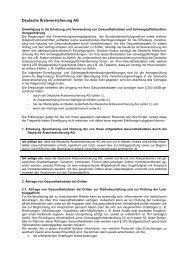 Deutsche Ärzteversicherung AG - Deutsche Ärzte Finanz