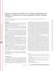 Efficacy of a green tea extract rich in catechin polyphenols ... - Nutraxin
